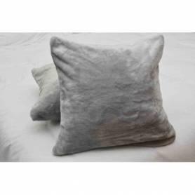 Housse de coussin fausse fourrure ALF, coloris gris, 40x40cm