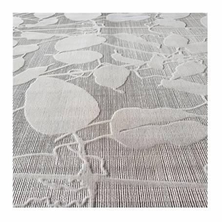 JP135053 Papier peint floqué - Blanc