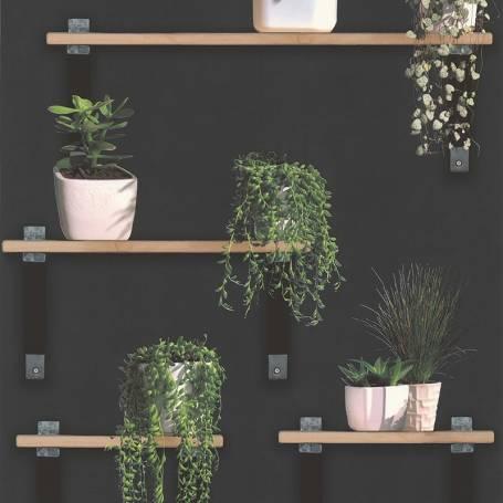 Papier peint Plantes vertes ardoise Reality 3 Réf 51181909