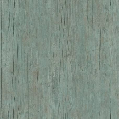 Papier peint Bois planches rustiques céladon - Reality 3 Réf 51181304