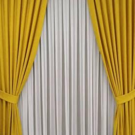 Rideaux angela jaune et...