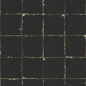 Papier peint Carrelage noir...
