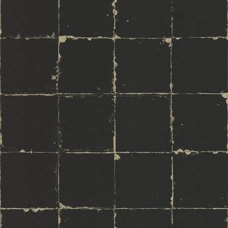Papier peint Carrelage noir - Reality 3 Réf 51185309