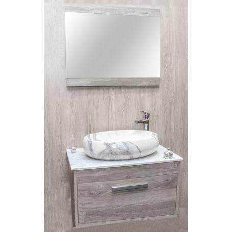 Meuble salle de bain Marina gris 80 cm