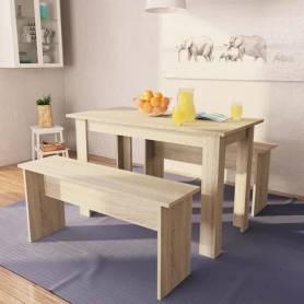 Table de salle à manger cuisine - 3 pièces