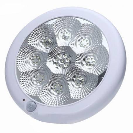 Applique LED - Avec détecteur de mouvement - 10w - Blanc