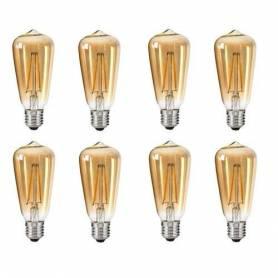 Pack 8 Lampes - Vintage led...