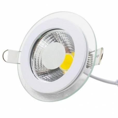 Spot led - En verre - Cob - 5 w - 220 v - 6500 K -Blanc