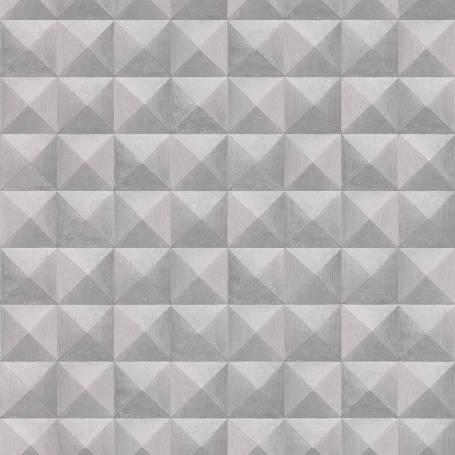 Papier peint 3D Diamant gris argent - Reality 3 Réf 51181209