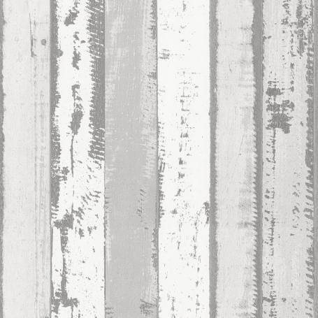 Papier peint Bois Planches anciennes gris clair- Reality 3 Réf 51152219
