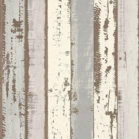 Papier peint -  Bois Planches Anciennes gris - Reality 3 - Réf 51152209