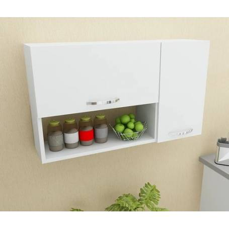 Rangement de cuisine Murale Blanc