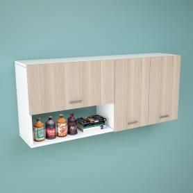 Rangement haut de cuisine étagère en chêne