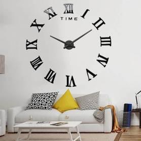 Horloge murale 3D chiffre Noir