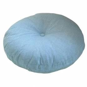 Coussin déco Rond 50cm en Velours - Bleu