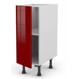 ARCHICUISINE Meuble Bas - Rouge - L*H*P/ 30* 72 * 58 cm