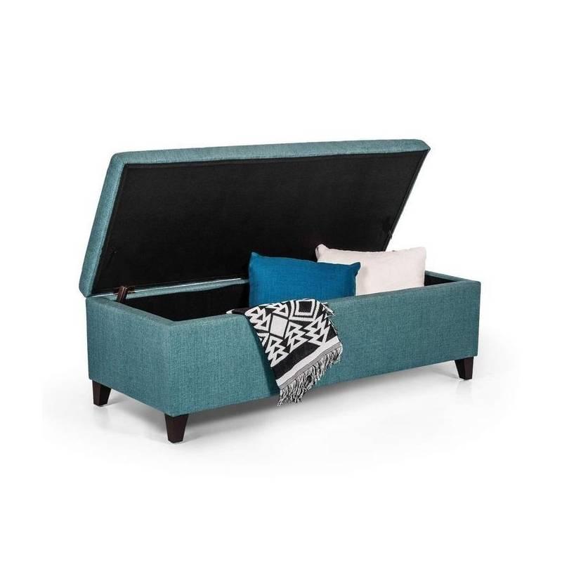 Achat Pouf Coffre de Rangement - 120*45 cm - Turquoise|Baity.tn