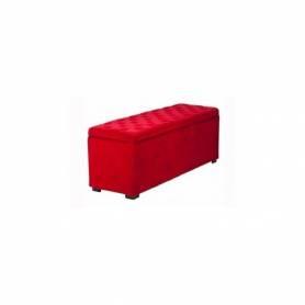 Pouf Coffre de Rangement 120*45cm Rouge