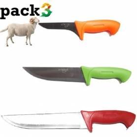 Lot de couteaux de boucher...