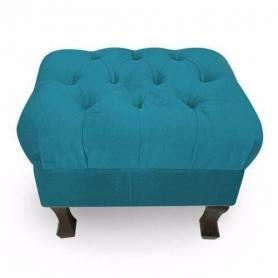 Pouf Coffre de Rangement 40*50cm - Bleu Turquoise