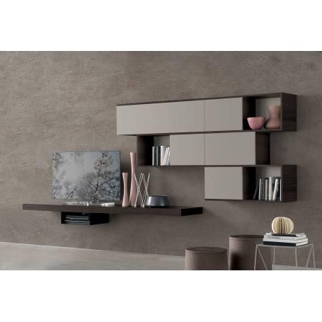Meuble TV Suspendu - Valence - bois MDF stratifié - 200*120*35 cm