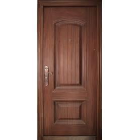 porte extérieure marron...