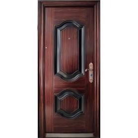 porte extérieur marron...