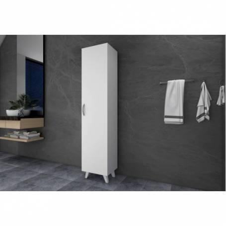 colonne salle de bain pied blanc