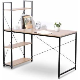 Table bureau avec étagères,...