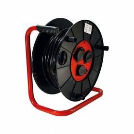 Enrouleur à clapetes - 3 prise 2P+T - Cable 3 G 1.5 mm 2 - 40 m