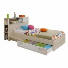 lit chêne avec rangement