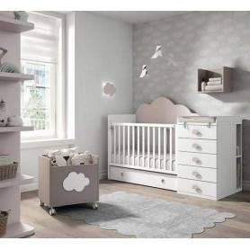 Lit bébé avec tiroir et...
