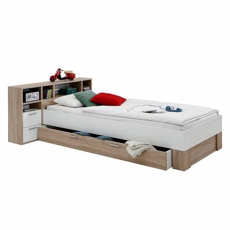 lit avec tiroir et rangement