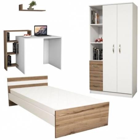 chambre Junior - Blanc & Chêne