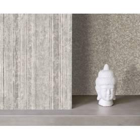 Papier Peint vinyle rayure - Gris - Réf 44938