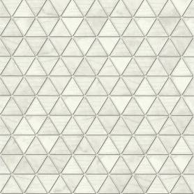 Papier Peint Haxatriangle - Blanc& Gris - Reality 3 - Réf 51182409