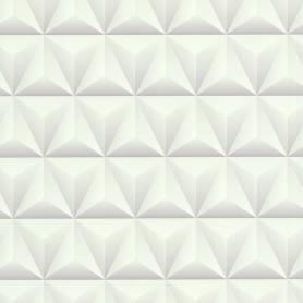 Papier peint 3D Triangles -  Blanc - Reality 3 - Réf 51176400