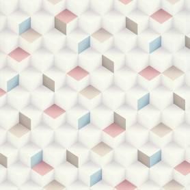 Papier peint Cubes 3D  - Coloré - Reality 3  - Réf 51176503