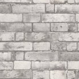 Papier peint - Briques Gris - Reality 3 - Réf 51151309