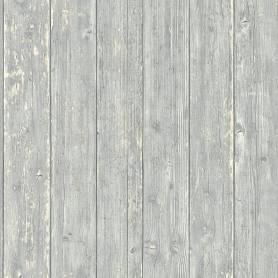 Papier Peint Bois peint -  Gris Clair - Reality 3 - Réf 51182209