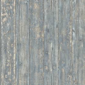 Papier peint Bois peint bleu - Reality 3 Réf 51182201