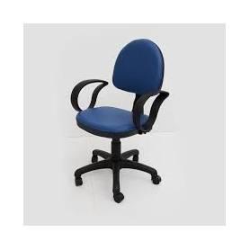 Chaise bleu petrole avec accoudoirs
