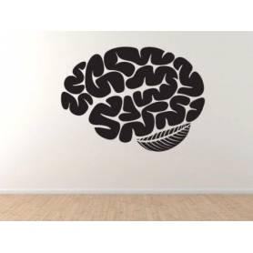 Sticker - brain - 57*78 cm - noir - STICKER2055