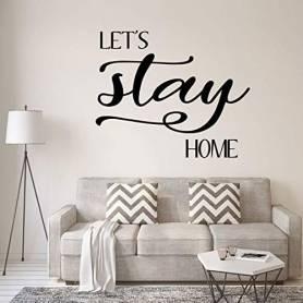 Sticker - let's stay home - 57*69 cm - noir - STICKER2054
