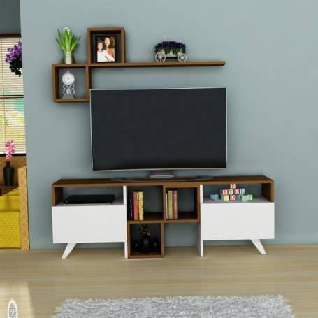 Meuble TV -  Florencia - Bois MDF stratifié - 150*50*35 cm