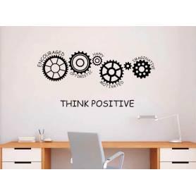 Sticker - think positive - 57*118 cm - noir - STICKER2053