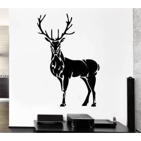 Sticker - gazelle - 57*85 cm -noir - STICKER2070
