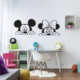 Sticker - 2 meky mouse - 57*160 cm - noir - STICKER2062