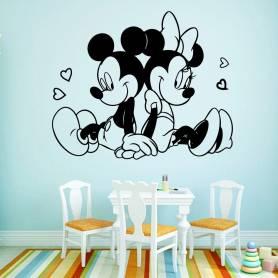Sticker - meky mouse - 57*69 cm - noir - STICKER2060