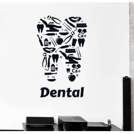 Sticker - dental - 57*93 cm - noir - STICKER2056